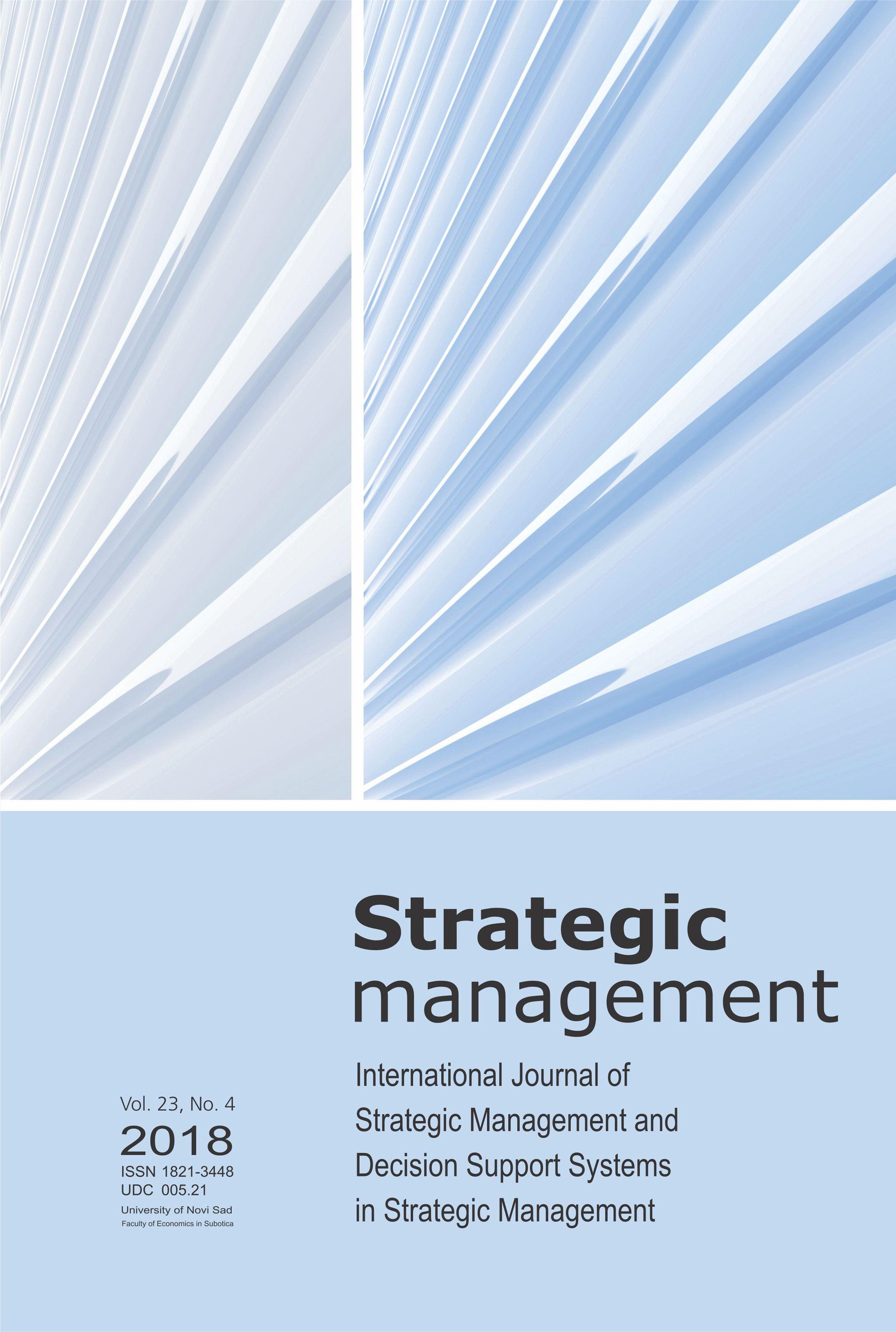 View Vol. 23 No. 4 (2018): Strategic Management