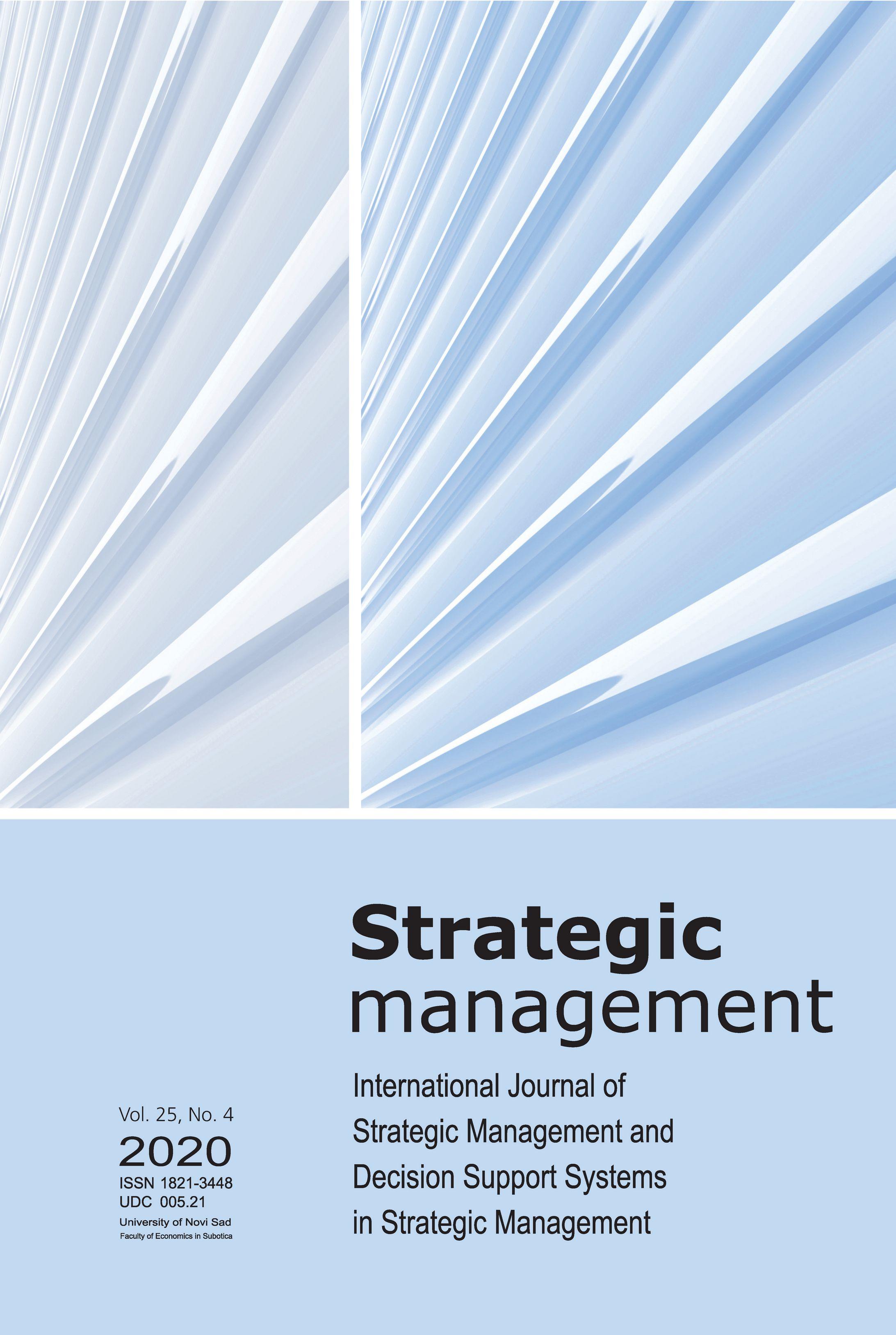 View Vol. 25 No. 4 (2020): Strategic Management
