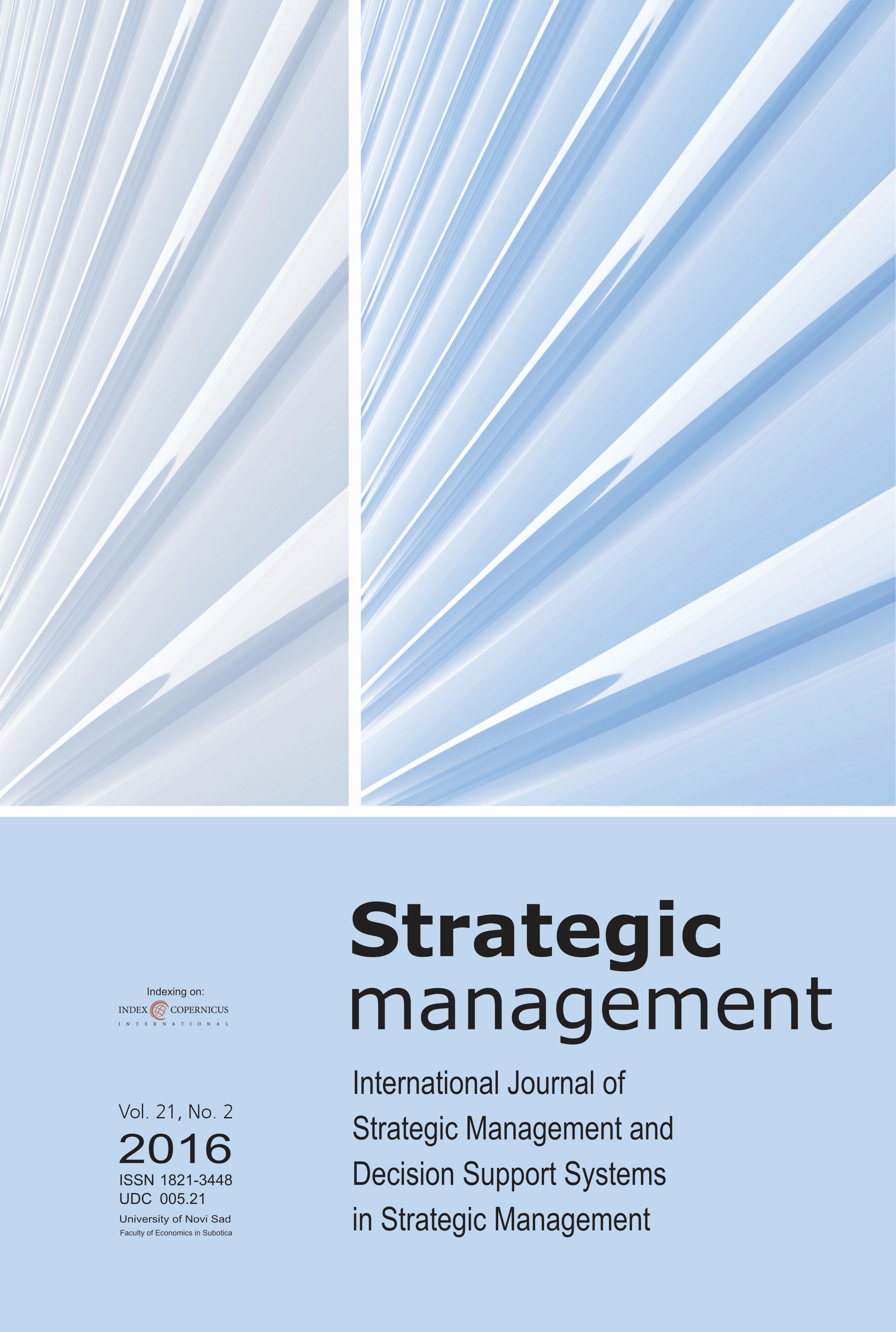 View Vol. 21 No. 2 (2016): Strategic Management