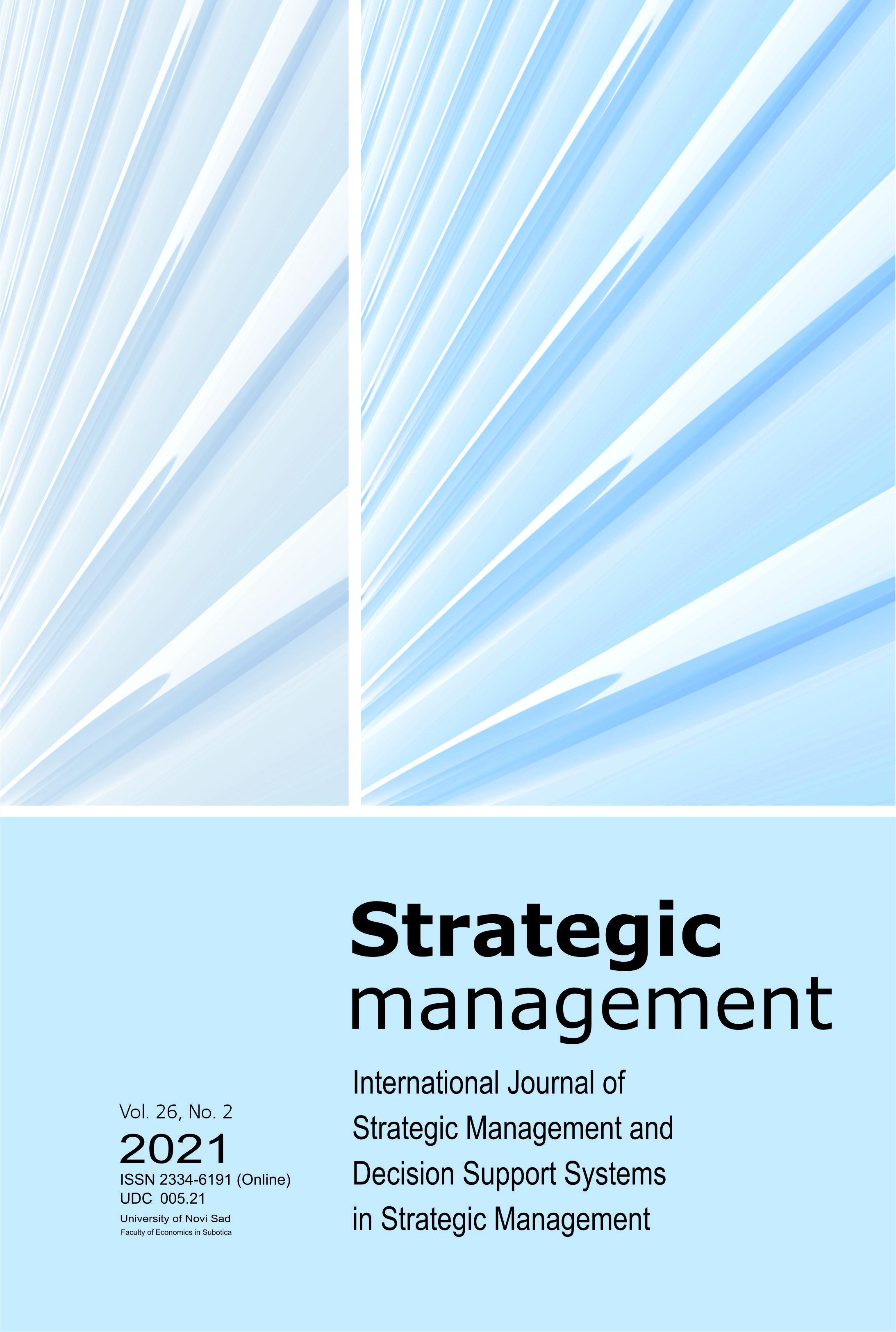 View Vol. 26 No. 2 (2021): Strategic Management