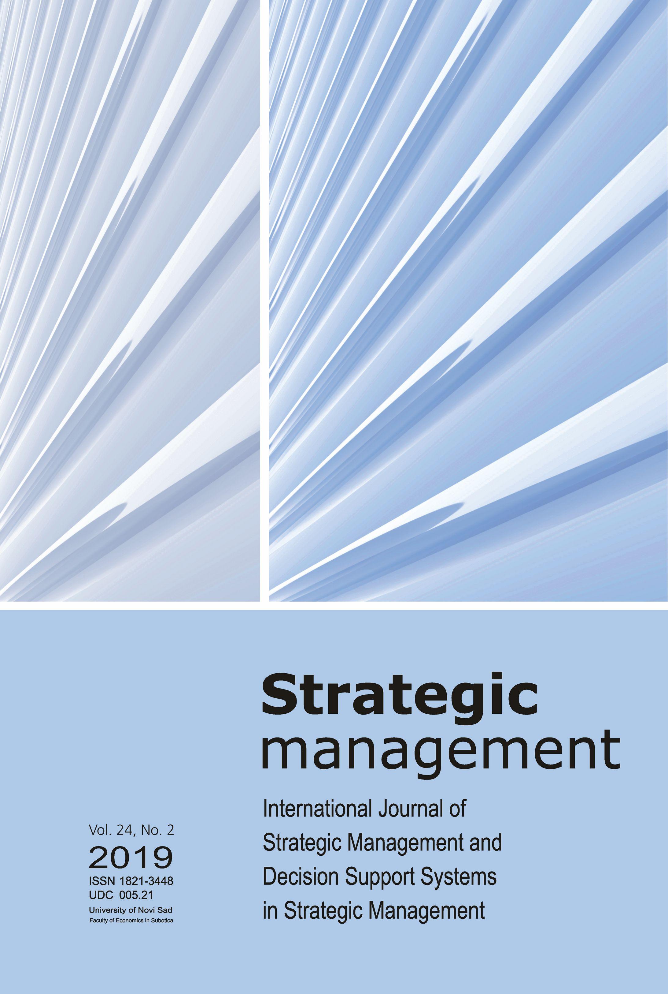 View Vol. 24 No. 2 (2019): Strategic Management