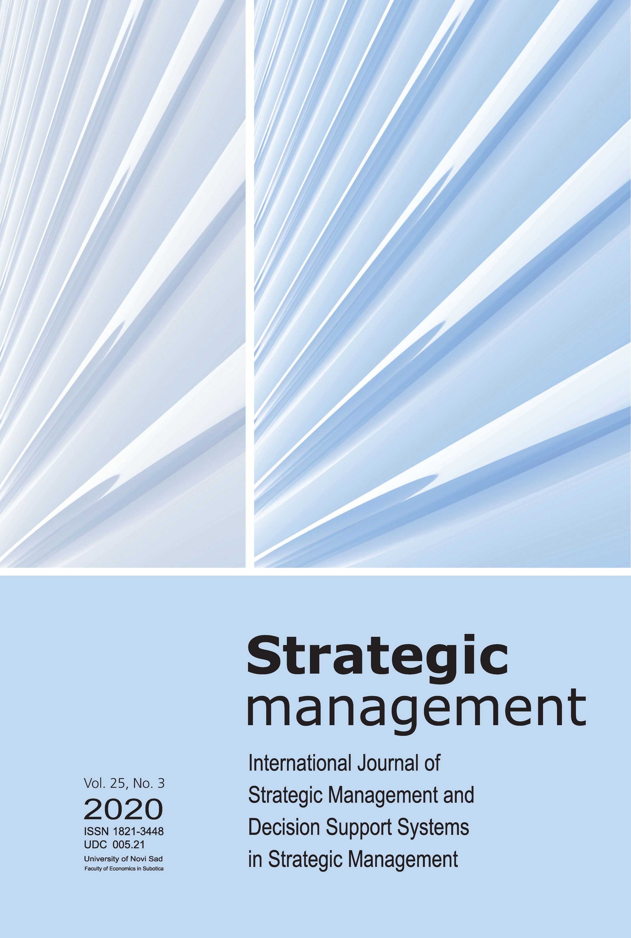 View Vol. 25 No. 3 (2020): Strategic Management